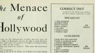 Pazze diete a Hollywood già nel 1929