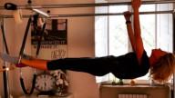 Alessia Marcuzzi in forma con il Pilates
