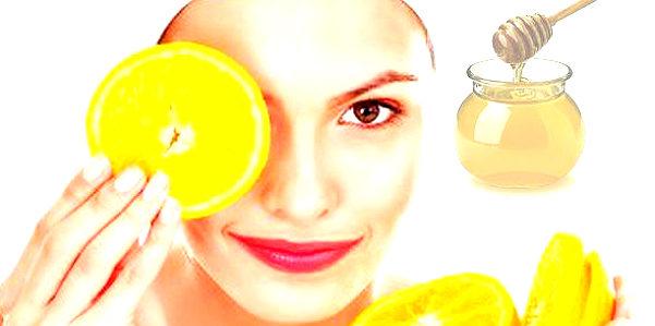 Maschera per il viso all'arancia