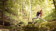 Yoga all'aperto in vacanza
