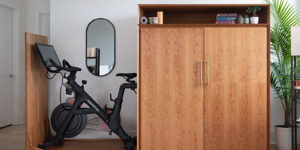 La cyclette nascosta nell'armadio